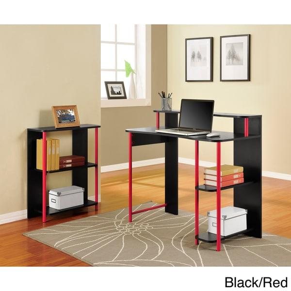 Altra Computer Desk and Bookcase Set