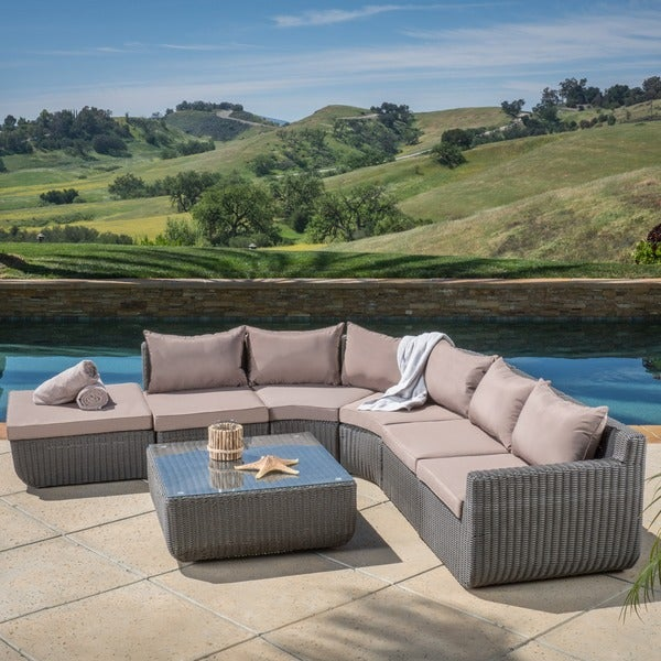 Carmel 7-piece Outdoor Sectional Set by Christopher Knight Home