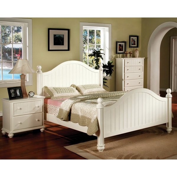 Shop Furniture Of America River Stream White Cottage Style 2 Piece Bedroom Set Free Shipping