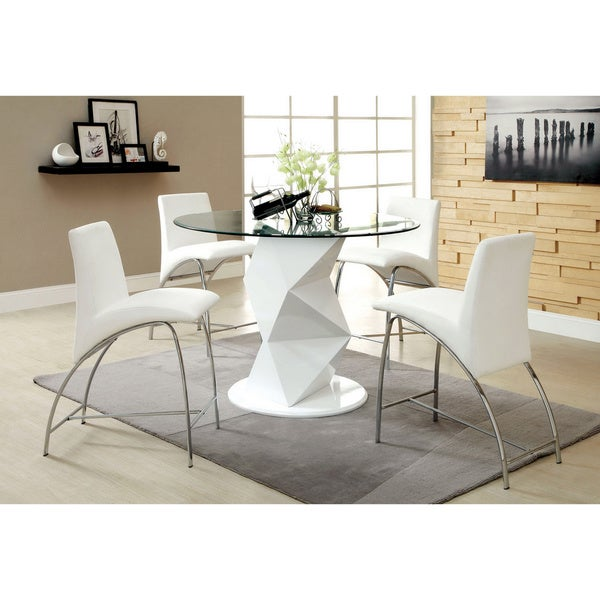 Furniture of America Picazzo Counter Height 5-piece Dining Set