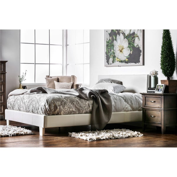 Furniture of America Kutty Modern Full Size Padded Platform Bed