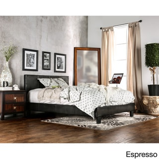 Furniture of America Lala Modern Brown Full Leatherette Platform Bed