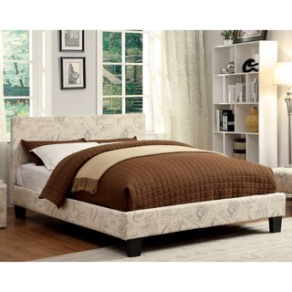 Clay Alder Home Taft Kutty Twin-size Padded Leatherette Platform Bed (Option: Ivory Script)
