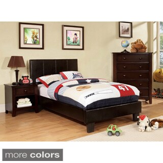 Clay Alder Home Taft Kutty Twin-size Padded Leatherette Platform Bed