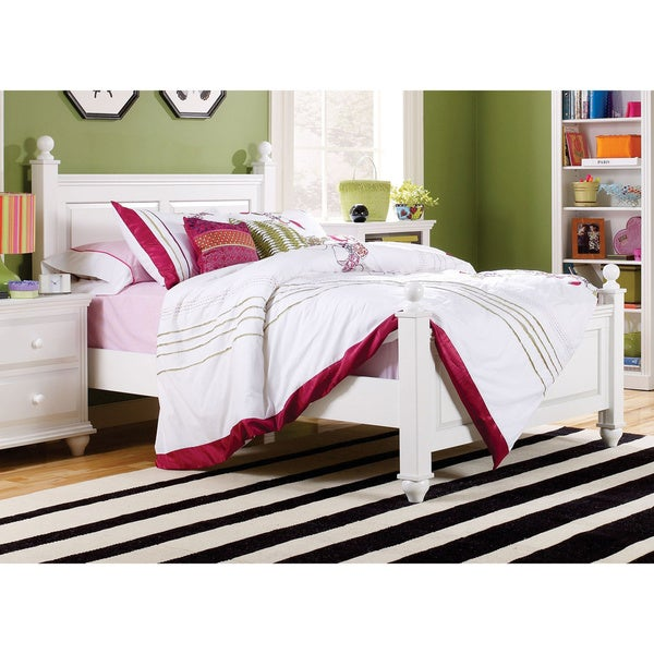 Shop Childrens Queen Size Four Poster Bed Frame Free Shipping