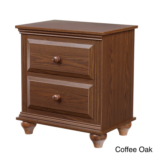 Nightstand with 2 drawers free shipping today for Extra tall nightstands