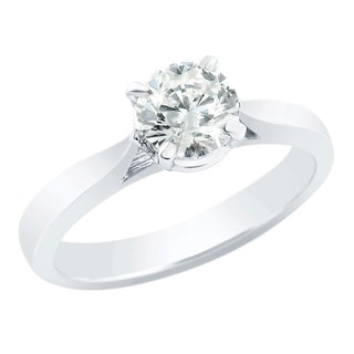 Auriya 14k White Gold 1ct TDW Clarity-enhanced Diamond Engagement Ring