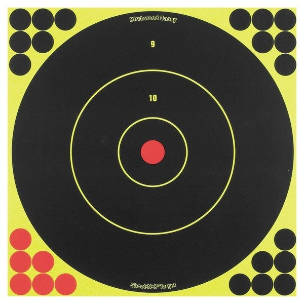 Birchwood Casey Shoot N C Self-Adhesive 12-Inch Bull's-Eye Target