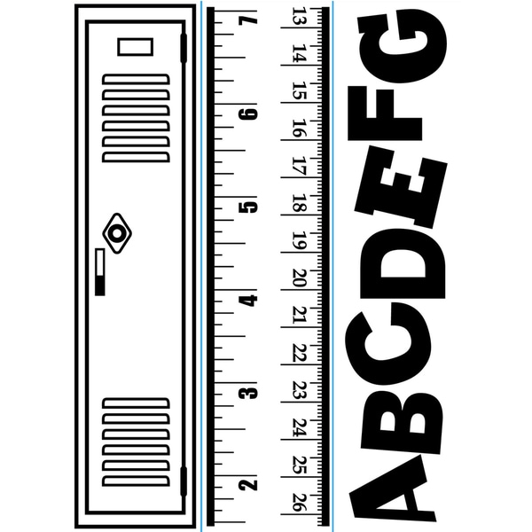"Embossing Folder Borders 1.5""X5.75"" 3/Pkg-School"