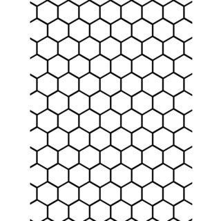 "Embossing Folder Background 5""X7""-Honeycomb"