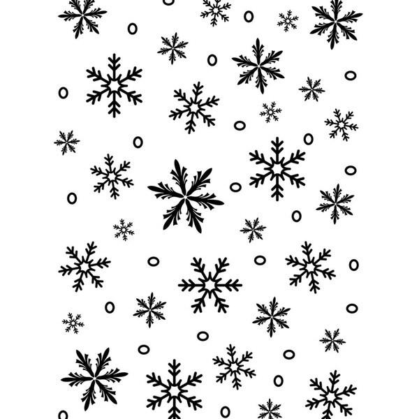 "Embossing Folder Background 5""X7""-Snowflake"