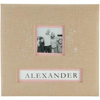 """Burlap Postbound Album 12""""X12""""-"""