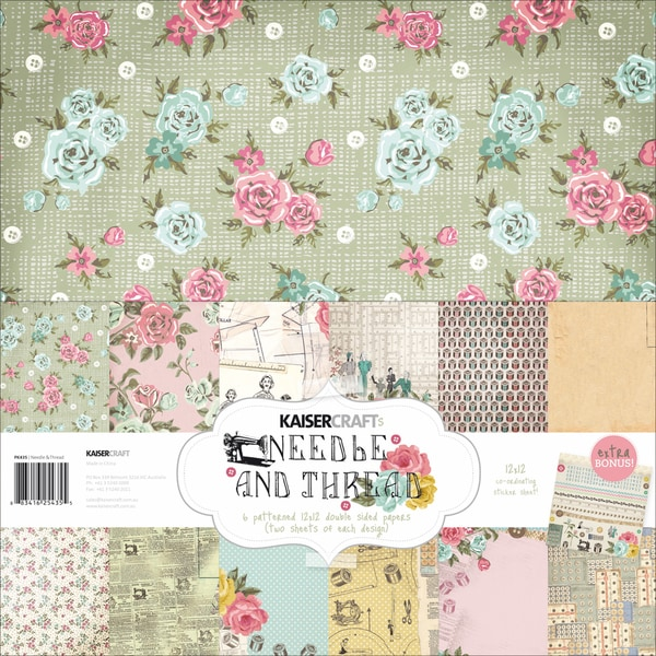 "Needle & Thread Paper Pack 12""X12""-"