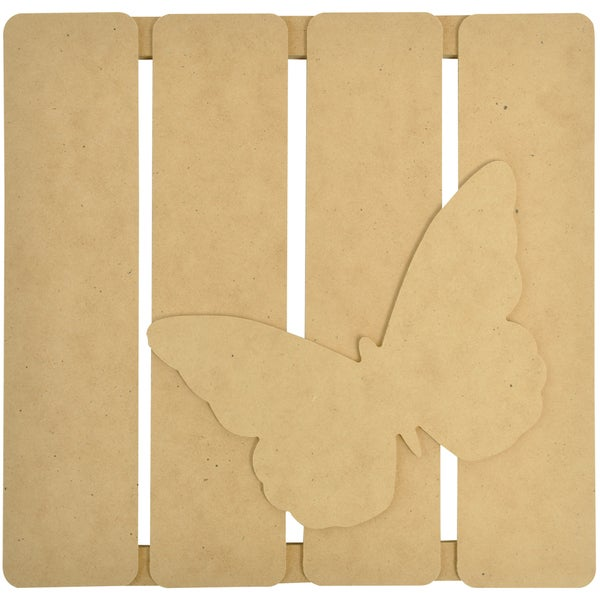 """Beyond The Page MDF Butterfly 3-D Wall Art-11.5""""X11.25""""X.5"""" (290x285x15mm)"""