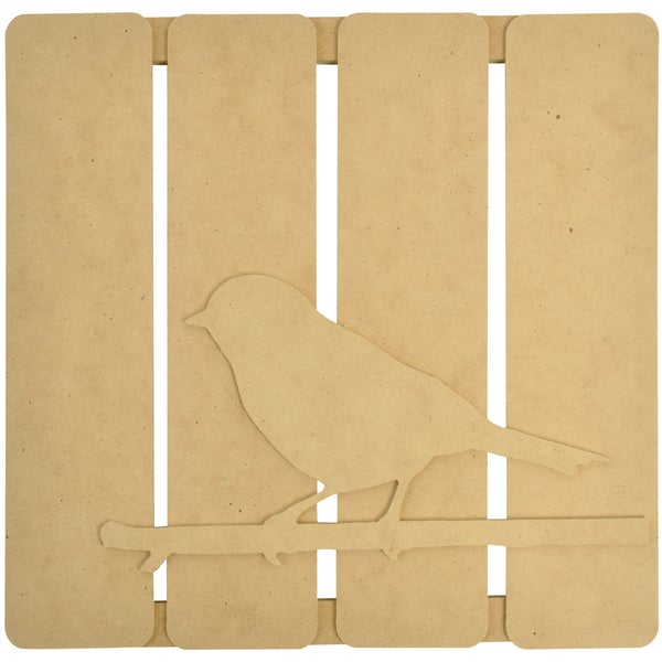 "Beyond The Page MDF Bird On Twig 3-D Wall Art-11.5""X11.25""X.5"" (290x285x15mm)"