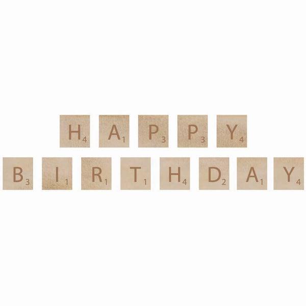 Wooden Letter Words-Birthday