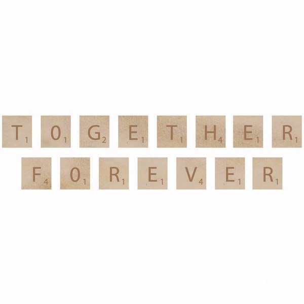 Wooden Letter Words-Forever