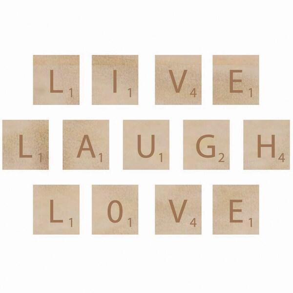 Wooden Letter Words-Laugh