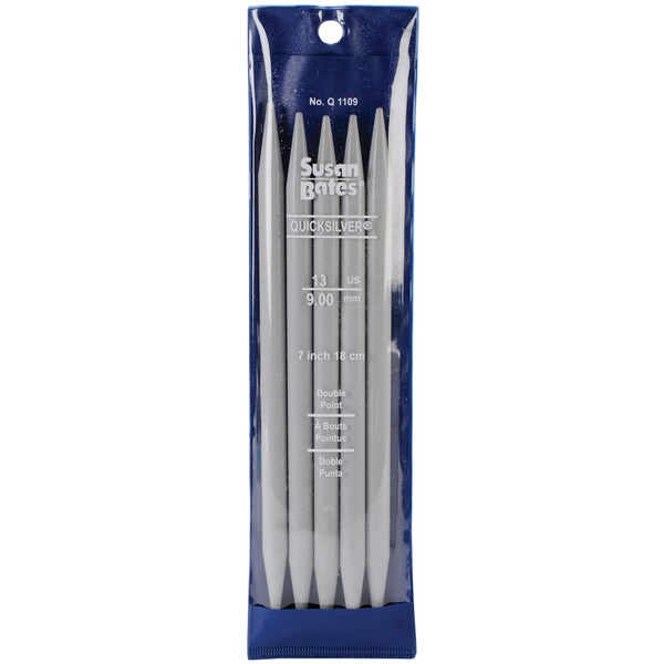 """Quicksilver Double Point Knitting Needles 7"""" 5/Pkg-Size 13/9mm"""