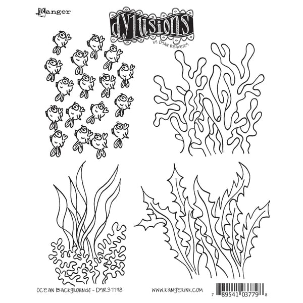 Dyan Reaveley's Dylusions Cling Stamp Collection-Ocean Backgrounds