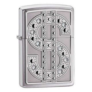 Zippo Bling Dollar Sign Metal Lighter