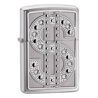 Zippo Bling Dollar Sign Metal Lighter