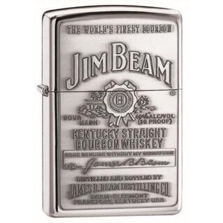 Zippo Lighter Jim Beam Emblem Pewter Lighter
