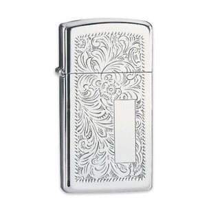 Zippo High-polished Chrome Slim Venetian Lighter