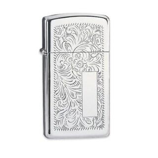 Zippo High-polished Chrome Slim Venetian Lighter