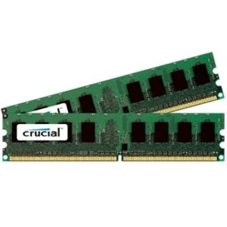 Crucial 2GB kit (1GBx2), 240-pin DIMM, DDR2 PC2-6400 memory module