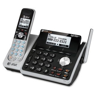 AT&T TL88102 DECT 6.0 2-Line Expandable Corded/Cordless Phone with An