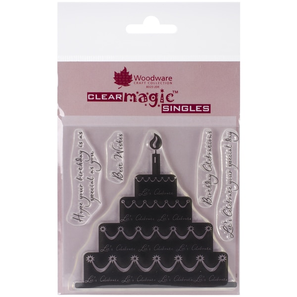 "Woodware Clear Stamps 3.5""x3.5""-Celebration Cake"