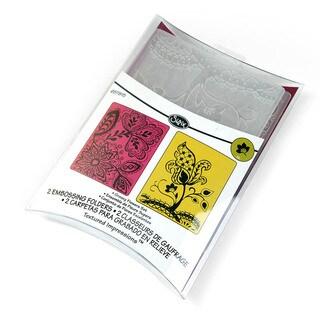 Sizzix 'Groovy Flowers' by Rachael Bright Embossing Folders (Set of 2)