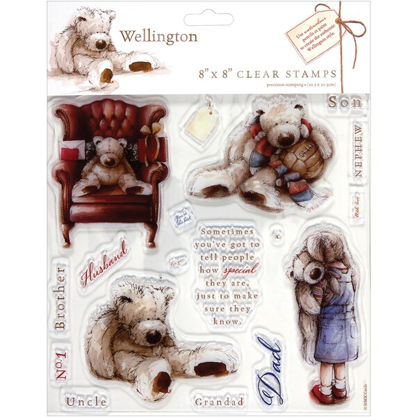 """Wellington Clear Stamps 8""""X8""""-"""