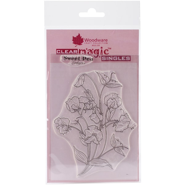 """Woodware Clear Stamps 3.5""""X5.5""""-Sweet Pea"""
