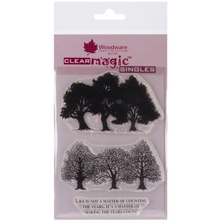 """Woodware Clear Stamps 3.5""""X5.5""""-Kim's Coppice"""