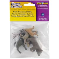 North American Wildlife Figurines (Pack of 5)