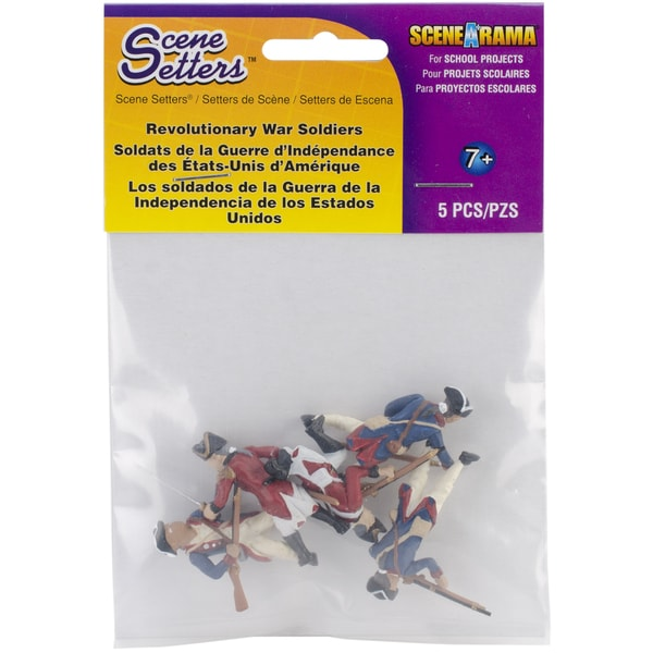 Revolutionary War Soldier Figurines (Pack of 5)