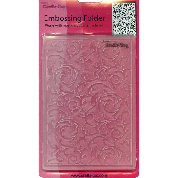 """Crafts-Too Embossing Folder 4""""X6""""-Scrollworks"""