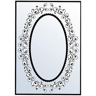 """Nellie Snellen Embossing Folder 4""""X6""""-Oval Swirl Frame"""