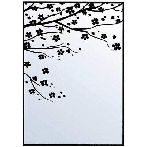 """Nellie Snellen Embossing Folder 4""""X6""""-Cherry Blossom"""
