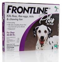 Frontline Plus Purple for Dogs 45-88 Pounds Flea Treatment