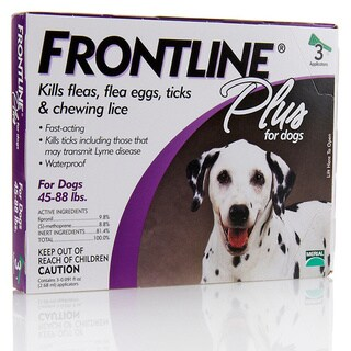 Frontline Plus Purple for Dogs 45-88 Pounds Flea Treatment