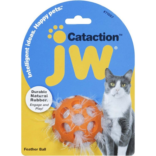 JW Pet Feather Ball