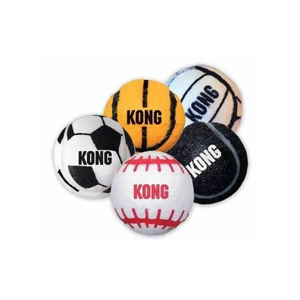 Kong Assorted Medium Pet Sports Balls (Pack of 3)