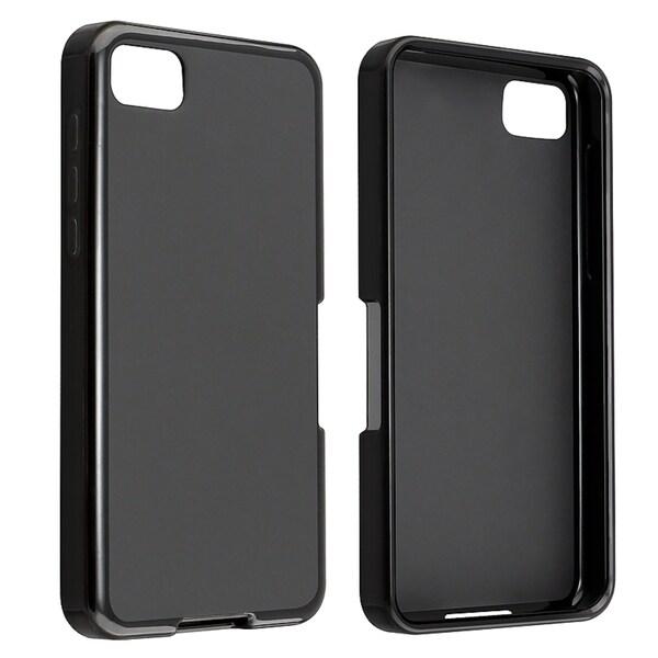 BasAcc Black Jelly TPU Rubber Case for BlackBerry Z10