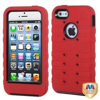 MYBAT Black/ Red Hybrid Case for Apple iPhone 5