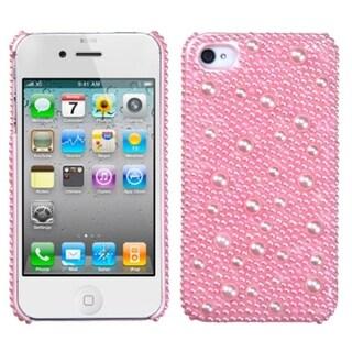 MYBAT Pink Pearl Diamante Case for Apple iPhone 4/ 4S