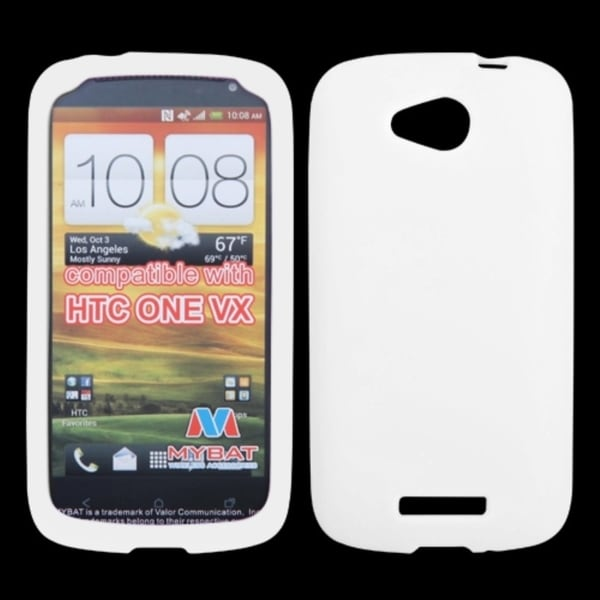 Insten White Phone Case Cover for HTC One VX