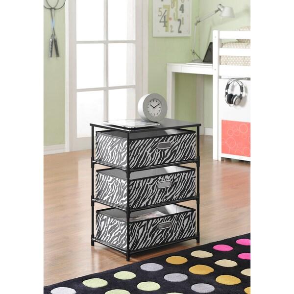 Altra Zebra 3-bin Storage End Table